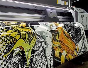 Печать на виниловой плёнке.